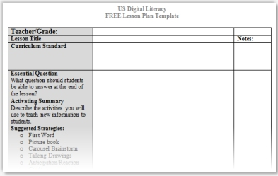 Marzano lesson plan template higher order thinking skills for Day plan template for teachers